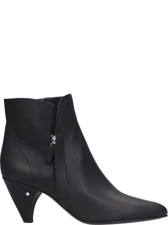 Laurence Dacade Stella Black Leather Ankle Boots