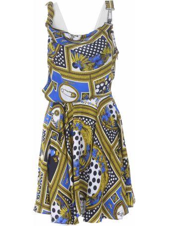 Versus Versace Printed One Shoulder Mini Dress