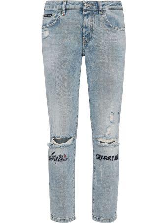 Philipp Plein S19c Wtk1257 Pjy002n 17 California Cotton Jeans