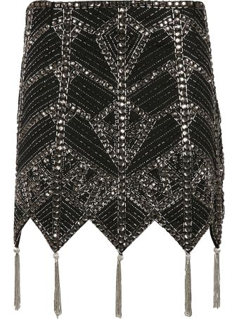 ATTICO Jacquard Beaded Mini Skirt