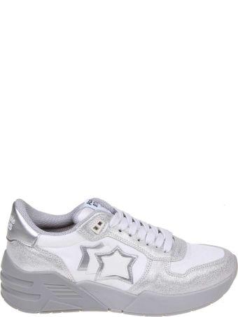 Atlantic Stars Venus Sneakers In Suede And Silver Fabric
