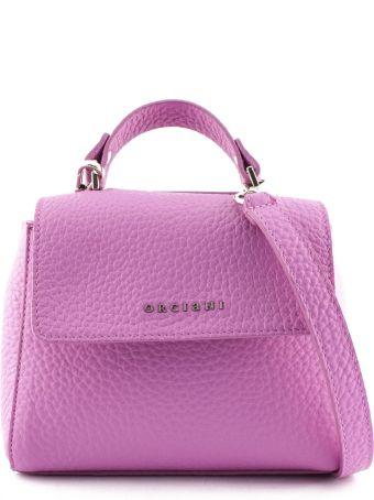Orciani Sveva Mini Fuchsia Leather Handbag