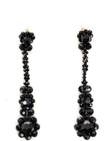 Simone Rocha Earrings Long Crystal Flower