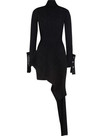 Off-White Asymmetric Knit Dress