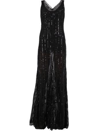 Amen Ruched Lace Dress
