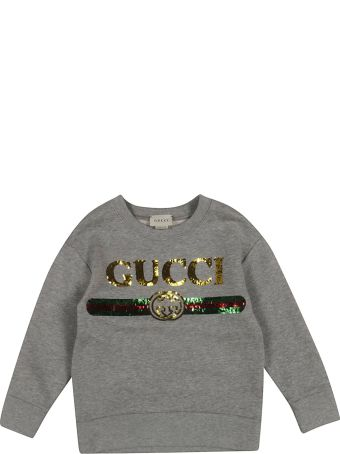 Gucci Kids Sequin Logo Sweatshirt