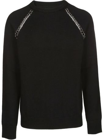Les Hommes Chain Trimmed Sweater