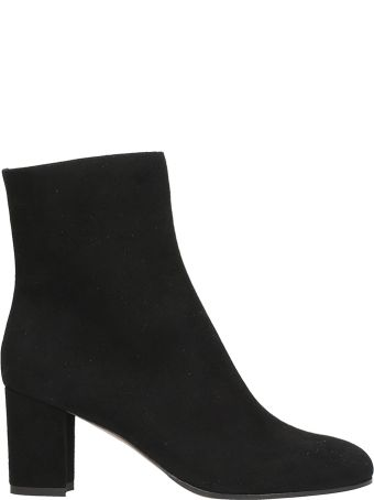 L'Autre Chose Black Suede Leather Ankle Boots