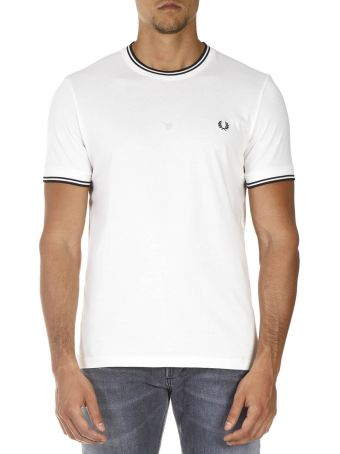 Fred Perry White Cotton T-shirt