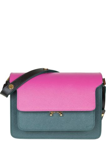 Marni Bag Trunk Bag In Leather Color Green / Fuxia
