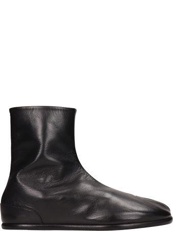 Maison Margiela Black Leather Tabi Ras