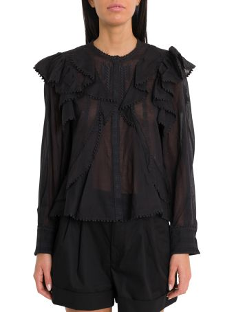 Isabel Marant Étoile Alea Shirt With Furrles And Embroideries