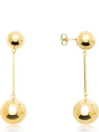J.W. Anderson Jw Anderson Gold Small Sphere Drop Earrings