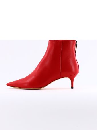 Alexandre Birman Red Kittie Ankle Boot