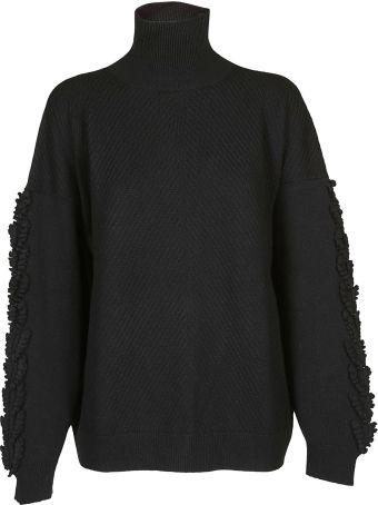 Barrie Fringe Detail Oversized Sweater