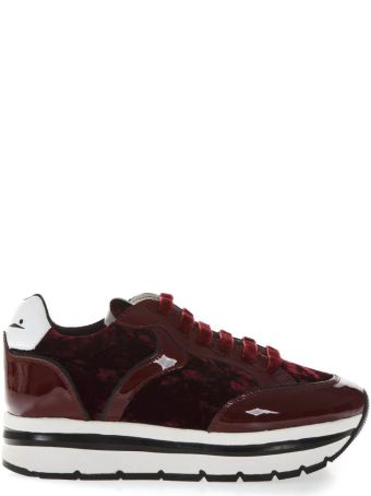 Voile Blanche Margot Red Suede & Patent Sneakers