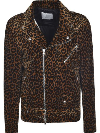 Route des Garden Leopard Print Biker Jacket