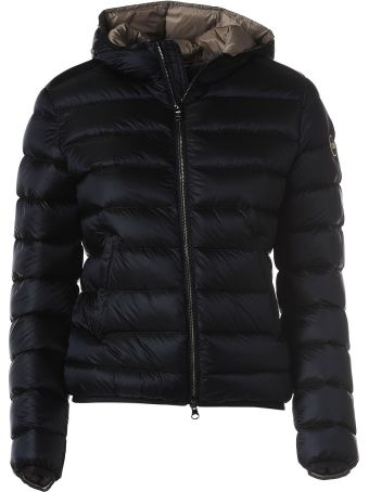 Colmar Hooded Navy Blue Down Jacket