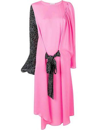 J.W. Anderson Polka-dots Silk Midi Dress