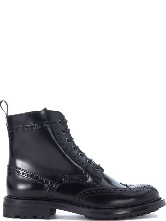 Church's Angelina Black Leather Ankle Boots