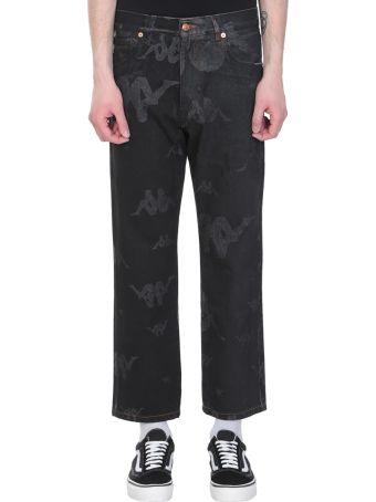 Danilo Paura x Kappa Black Denim Jeans