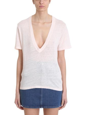 IRO Jahal Pink Linen And Cotton T-shirt