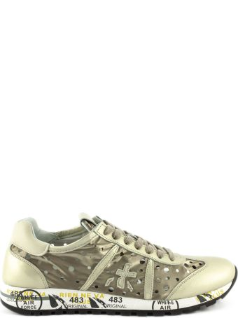 Premiata Lucy Sneaker In Gold Leather