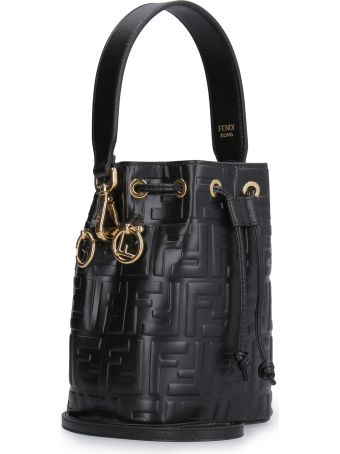 Fendi Mon Tresor Mini Leather Bucket-bag