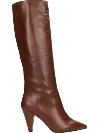 The Seller Brown Leather High Boot