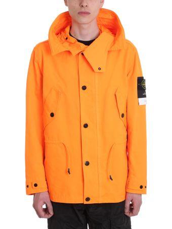 Stone Island Orange Polyester Jacket