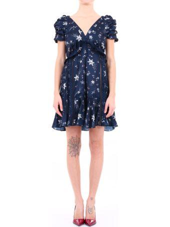 self-portrait Dress Stars Blue