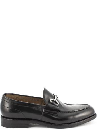 Green George Black Polished Leather Loafer