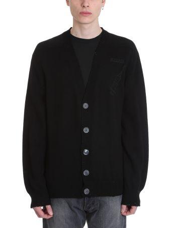 Riccardo Comi Black Wool Cardigan
