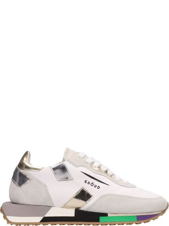 GHOUD Suede And Technical Fabric White Rush Sneakers