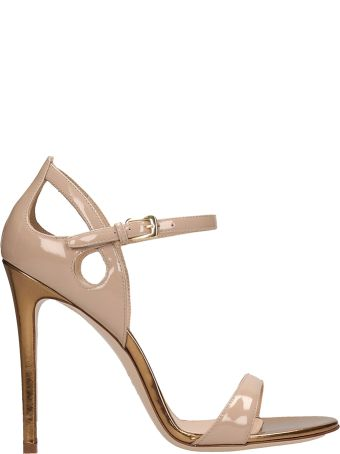 Dei Mille Nude Patent Leather Sandals