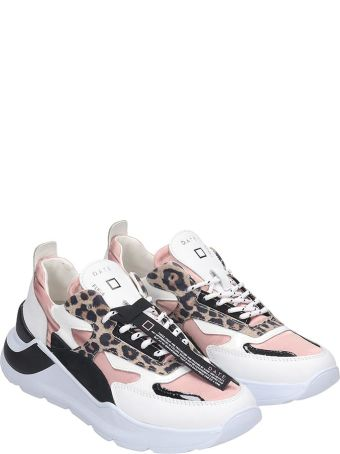 D.A.T.E. Fuga Sneakers In White Tech/synthetic
