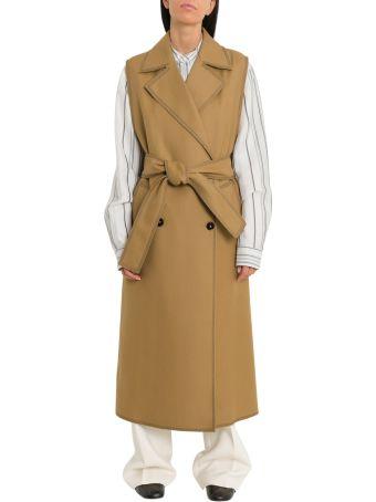 Jil Sander Gus Sleveless Trench Coat