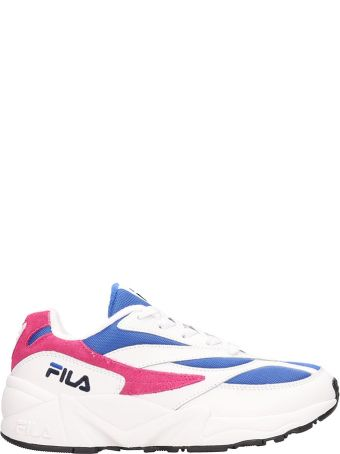 Fila White Leather And Suede Low V94m Sneakers