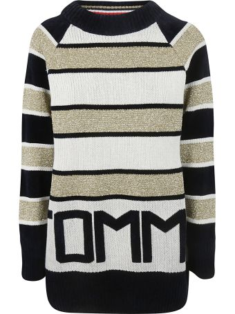 Tommy Hilfiger Logo Striped Sweater