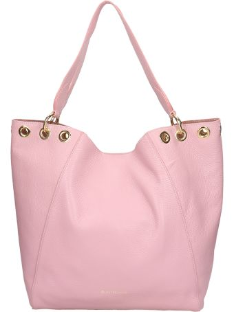 L'Autre Chose Shopper Bag In Pink Leather