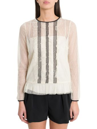 RED Valentino Point D'eprit Tulle Top