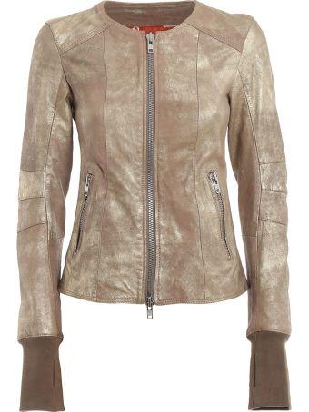 S.W.O.R.D 6.6.44 Sword Zipped Leather Jacket