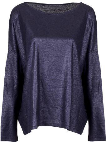 Majestic Filatures Metallic Jersey Over T-shirt