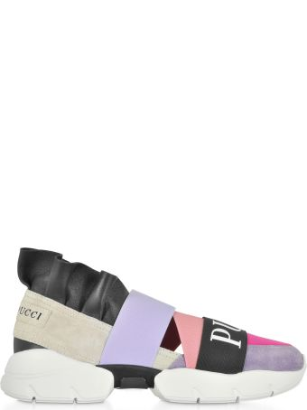 Emilio Pucci Color Block Ruffle Sneakers