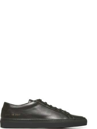 Common Projects Low-cut Sneakers From Common Projects: Black Low-cut Sneakers With Round Toe, Branded Insole, Lace-up Front Fastening, Flat And Rubber Sole.