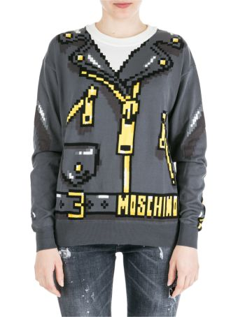 Moschino  Jumper Sweater Crew Neck Round Pixel Capsule