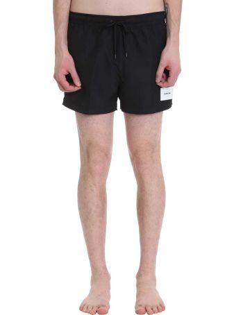 Calvin Klein Jeans Black Nylon Swimwear