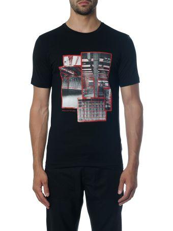 Diesel Black Gold Black Industrial T-shirt In Cotton