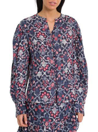 Isabel Marant Étoile Tilfo Puffed Sleeves Blouse