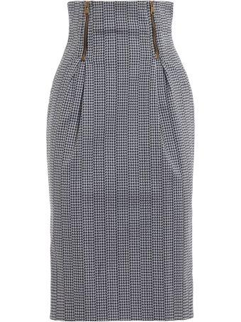 Versace High Rise Pencil Skirt